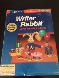 The-Learning-Center-Writer-Rabbit-Apple-IIgs-In-Box-Good-Condition