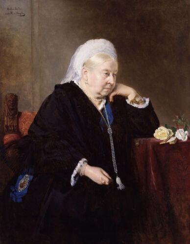 "1899 Portrait 14 x 11/"" Photo Print Queen Victoria aged 80"