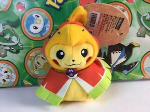 Pokemon-Kyoto-Ho-oh-Pikachu-Poncho-Costume-Plush-Mascot-Keychain-Doll-Stuffed