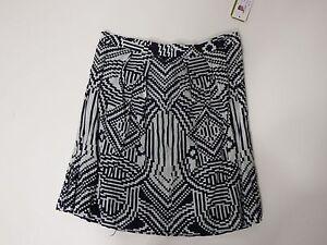 women-skirts-Nicole-Miller-Size-4-Black-And-White-MSRP-245-00-Zipper-Fastening