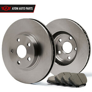 Front-Rotors-w-Ceramic-Pads-OE-Brakes-2002-2007-Fit-Jeep-Liberty