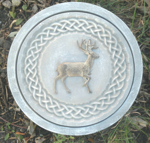 concrete deer celtic stepping stone plastic L@@K at  5000 more molds in my store