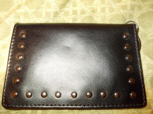 "Trucker\Biker 4/"" Wallet With Chain Leather Fold out Biker Wallet with Chain Loop"