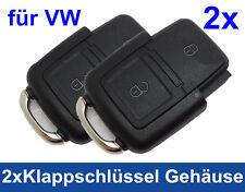 2x 2Tasten Klappschlüssel Gehäuse für VW SEAT SKODA Schlüssel Funk Ersatz Key