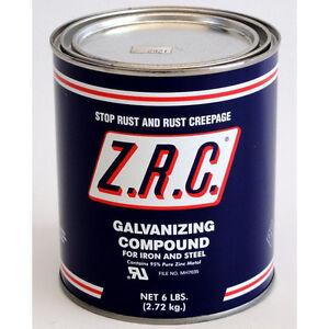 ZRC Cold Galvanizing Compound Quart Can... 95% ZINC (Z.R.C.) 10002