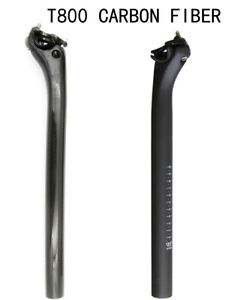 Fahrrad MTB 3K matt Carbon Sattelstütze Kohlefaser 27.2 31.6*350mm 30.8