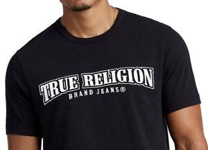 True-Religion-Herren-Classic-Arch-Logo-Tee-T-Shirt-in-schwarz