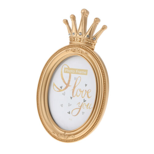 Luxury Gold Crown Decorative Picture Photo Frame Gift for Friend and Family