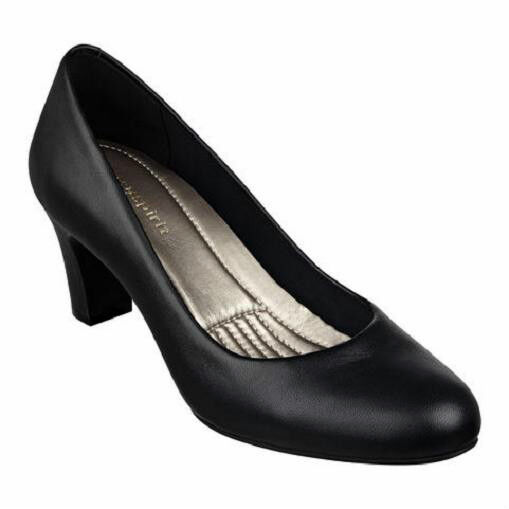 Easy Spirit ROTefine schwarz Leder pump 2 1/2 inch heels 8 NARROW NEU