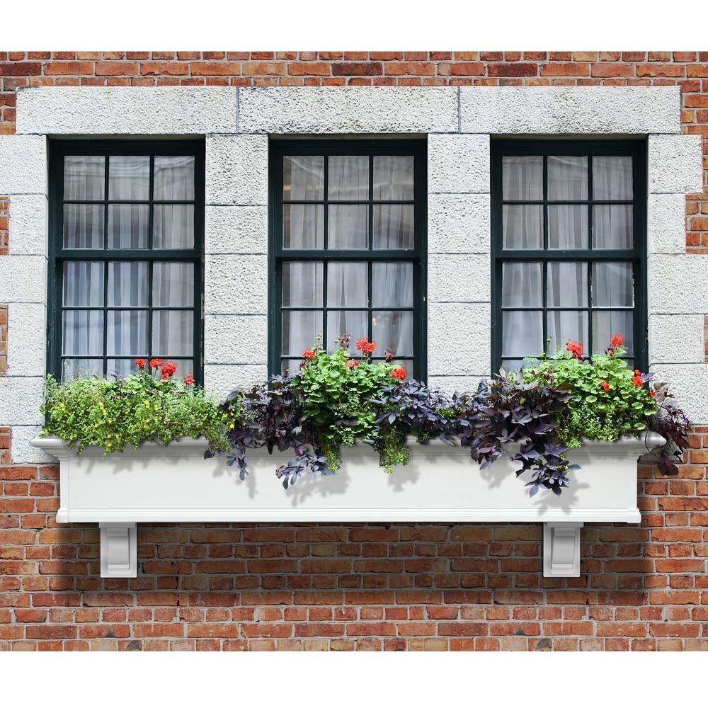 72  jardín balcón plantas con flor de decoración Rectángulo mediano Plantador Decoración de caja de la ventana