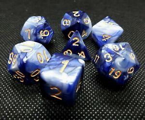 RPG-Wuerfel-Set-7-teilig-Poly-DND-w4-w20-dice4friends-Tabletop-Brettspiel-DSA