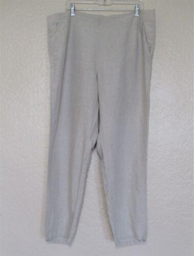 j.jill Cropped Pants XL oatmeal linen