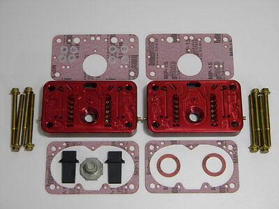 Holley QFT AED Billet Metering Blocks 650 CFM Calibrated 4 Hole Emulsion Black