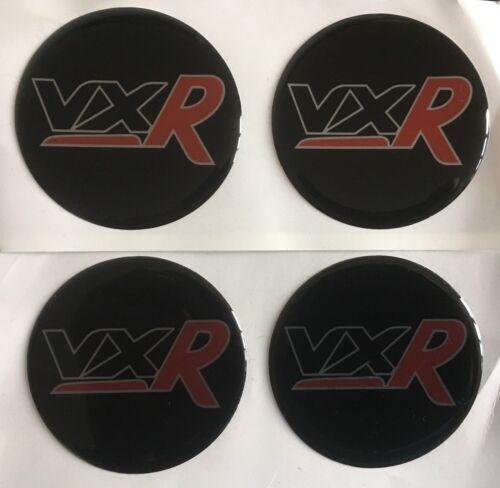 VAUXHALL VXR 55mm lega ruota centro a Cupola Adesivi X4 Corsa Insignia Astra Rosso