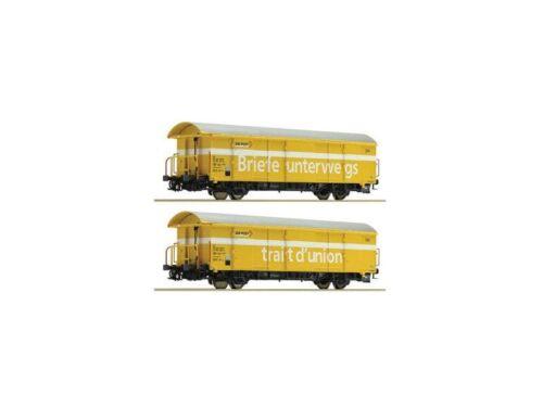 2 Pezzi Set DC traccia h0 ROCO 76200 post carri merci z2 SBB giallo