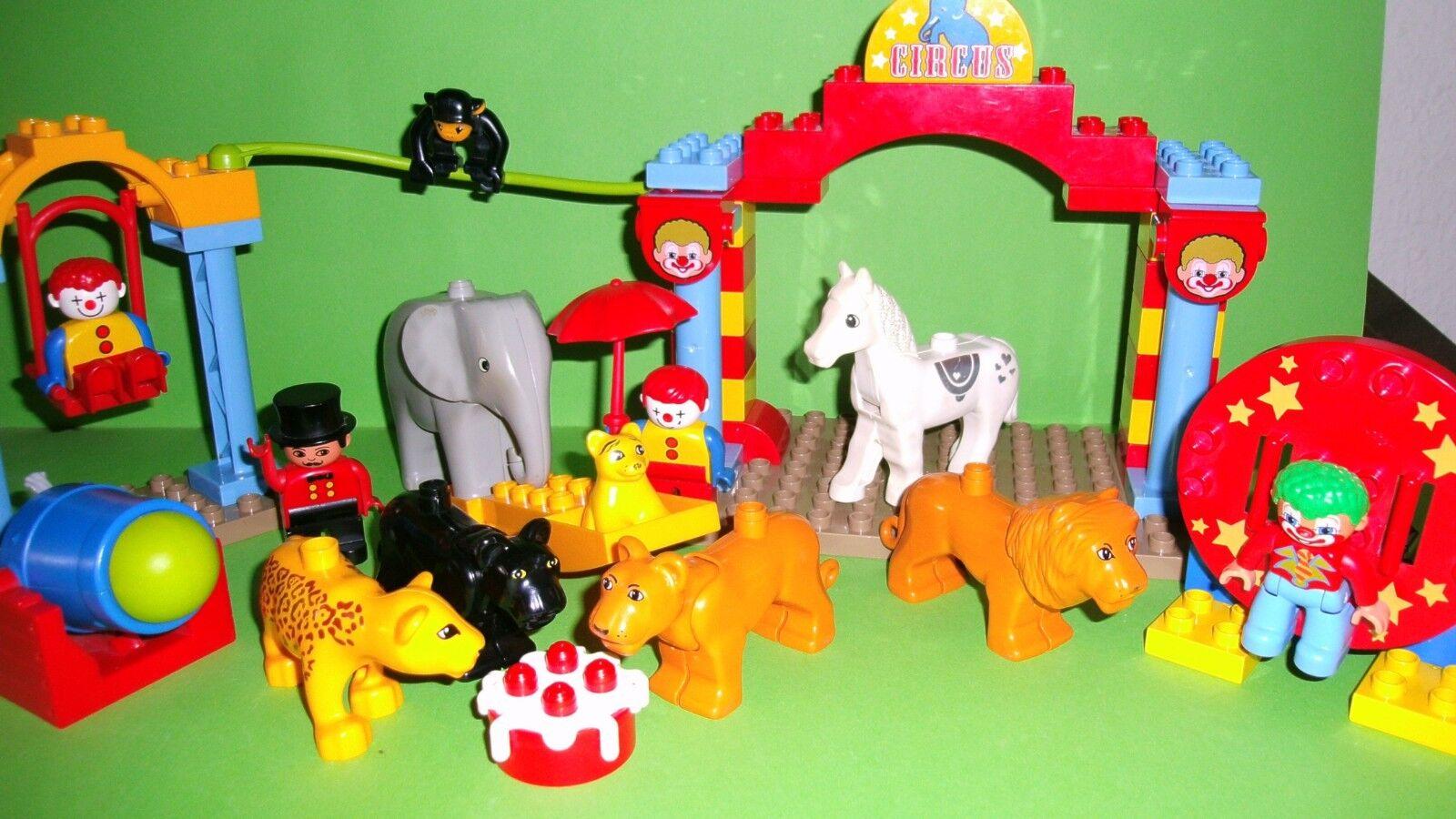 LEGO DUPLO 5593 Cirque, la piste, éléphant, lion, 3 clowns, singe,...