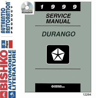 1999 Dodge Durango Truck Shop Service Repair Manual CD Engine ...