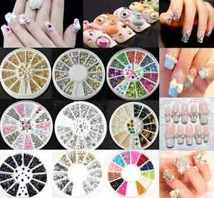 3D-Hot-Nail-Art-Rhinestones-Glitters-Acrylic-Tips-Decoration-Manicure-Wheel-hs
