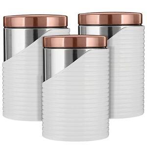 Tour-3pc-boites-a-the-cafe-sucre-contenants-en-acier-inoxydable-Blanc-Or-Rose