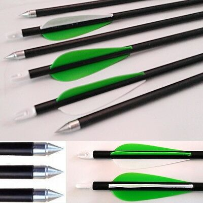 10 x New Fibreglass CARBON GRADE screw  Tip Archery Arrows Nocks suits Most Bows