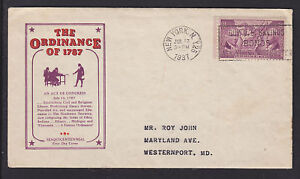 US-Planty-795-35-FDC-1937-Ordinance-of-1787-New-York-F-D-Cancel-Cachet-Craft