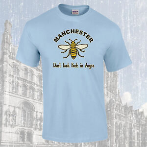 Manchester-Arbeiter-Biene-Lied-Dont-T-Look-Back-in-Anger-T-Shirt-Farbauswahl