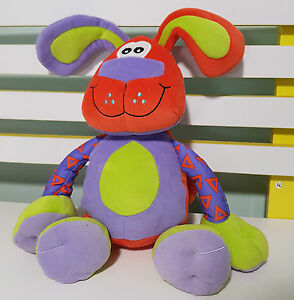 PLAYGRO-PLUSH-TOY-RATTLE-BABY-TOY-SQUEEK-THE-DOG-25CM