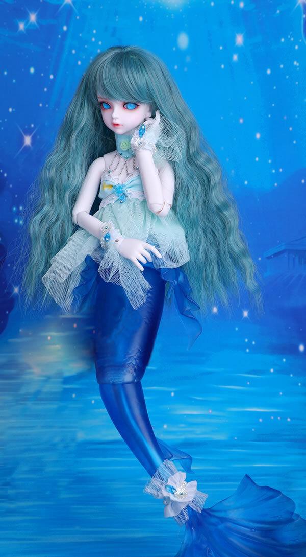 1 4 BJD SD muñeca verdecillo & Rico mermai-Gratis Cara Maquillaje + Gratis Ojos-versión de fantasía