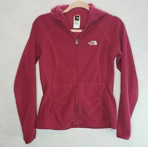 The-North-Face-TKA-100-Womens-Ruched-Jacket-Front-Pockets-Full-Zip-Fleece-Small