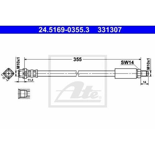 1 Bremsschlauch ATE 24.5169-0355.3 passend für BMW