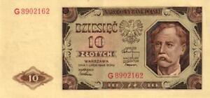 05-Poland-Polen-P136a-10-Zlotych-1948-Serie-G
