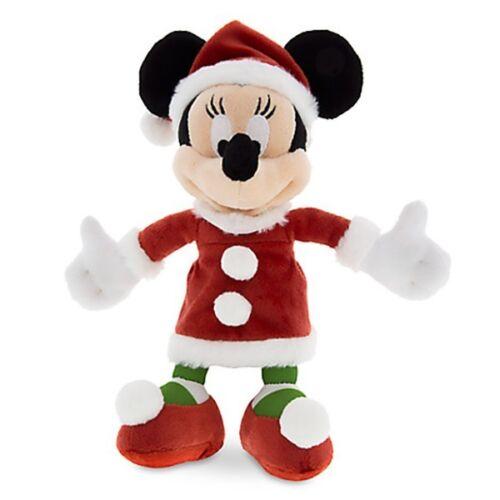SANTA MINNIE MOUSE Plush w/ Bambi Christmas Stuffed Animal Doll Toy Disney Store