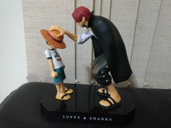 Figura anime One Piece sombrero de paja paja paja mugiwara - Luffy y Shanks - 17.5cm ed8ba7