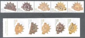 Original Australie-rising Sun Badge-set & Autocollante - 2012-neuf Sans Charnière-ng Sun Badge- Set & Self Adhesive -2012-mnhfr-fr Afficher Le Titre D'origine