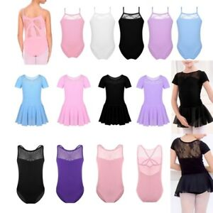 2b15026d1dfd Girls Cross Straps Gymnastic Ballet Leotard Lace Back Dance Dress ...