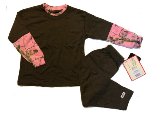 APC Realtree Brown 2T T-shirt w// Pink Camouflage Long Sleeves w// Brown Pants