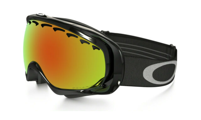 fa044affdad7 NEW in Box OAKLEY - CROWBAR - Snow Goggles Polished Black   Fire Iridium