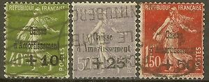 FRANCE-STAMP-TIMBRE-N-275-277-034-CAISSE-AMORTISSEMENT-5e-SERIE-1931-034-OBLITERES-TB