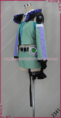 Details about  /Macross Delta Reina Prowler Green Dress Suit Cosplay Costume free shipping
