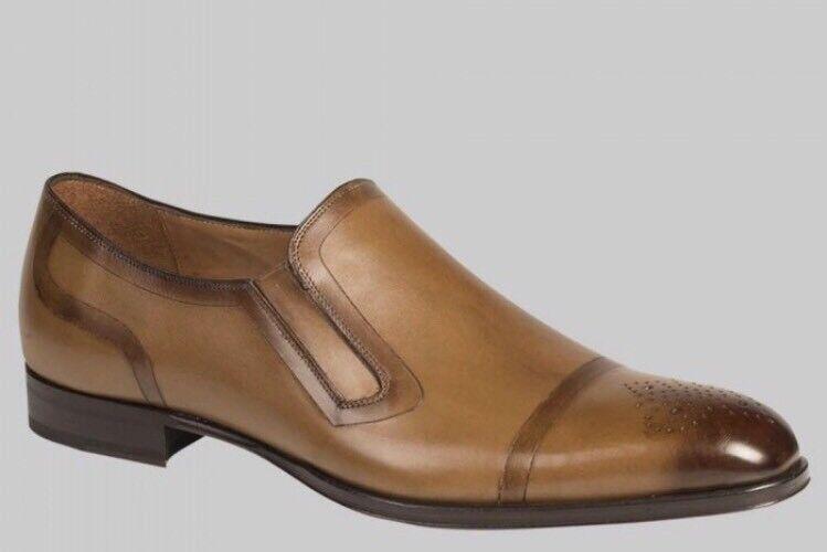 NEW Mezlan 'Gallego' Venetian Loafer - Tan Translucent Italian Calfskin - 10M