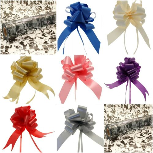 1 50mm Pullbow Folded Black Rose Cellophane Gift Wrap 80 cm wide 1-4 meters