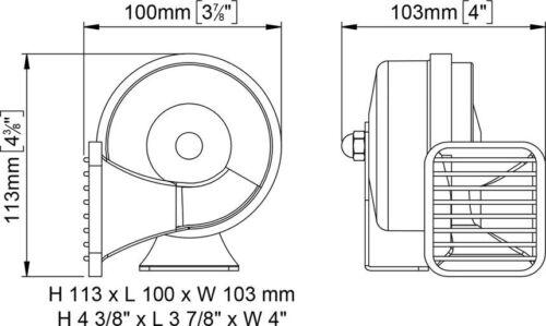 1a Qualitäts Signalhorn Schiffshorn Hupe Nebelhorn Minihorn Autohorn Marco 12V