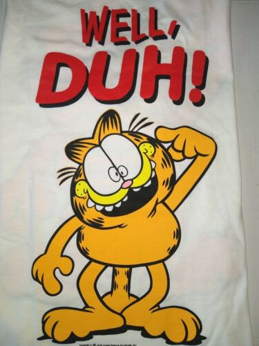 Vintage 90's Full Graphic Garfield WELL DUH Single