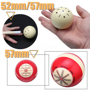 52mm-57mm-Resin-Cue-Ball-Pool-Billiard-Practicing-Training-Balls-White-Red