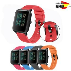 hombre tecnicas modernas Descubrir Detalles de Silicona Correa Pulsera Recambio Para Xiaomi Amazfit Bip 1 2  Deportivos Reloj