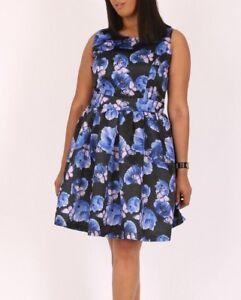 Kleid Gr.44-54 Cocktailkleid Kurzkleid Schmetterlinge ...