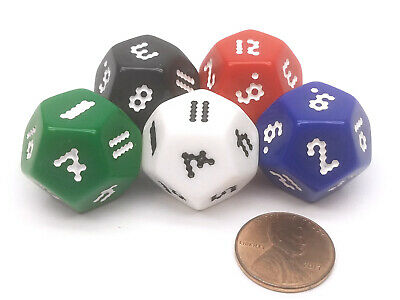 Choose Your Color D12 Rhombic Dodecahedron Dice 1 Piece or Assortment