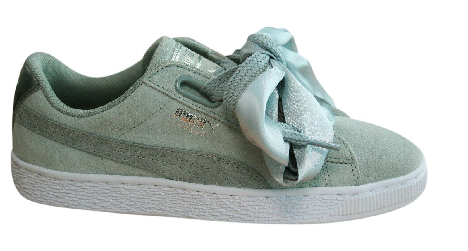 Puma Suede Heart Safari Grey Womens Trainers Lace Up Grey Safari Leather 364083 02 U29 9c864f