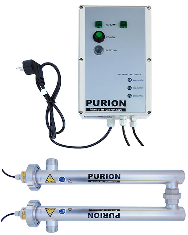 PURION 1000 230V DUAL OTC, einfacher Lampenlaufzeitmesser Desinfektion