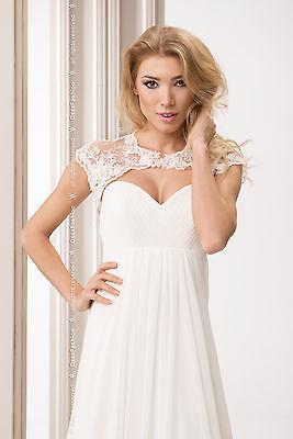 New Wedding Ivory / White Lace Bolero Shrug Bridal Jacket  S M L XL